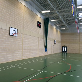 Acousta Tex Colinwell Acoustic Block - Boys Model School, Sports Hall, Belfast, Northern Ireland - Colour: Cream Smooth (1)